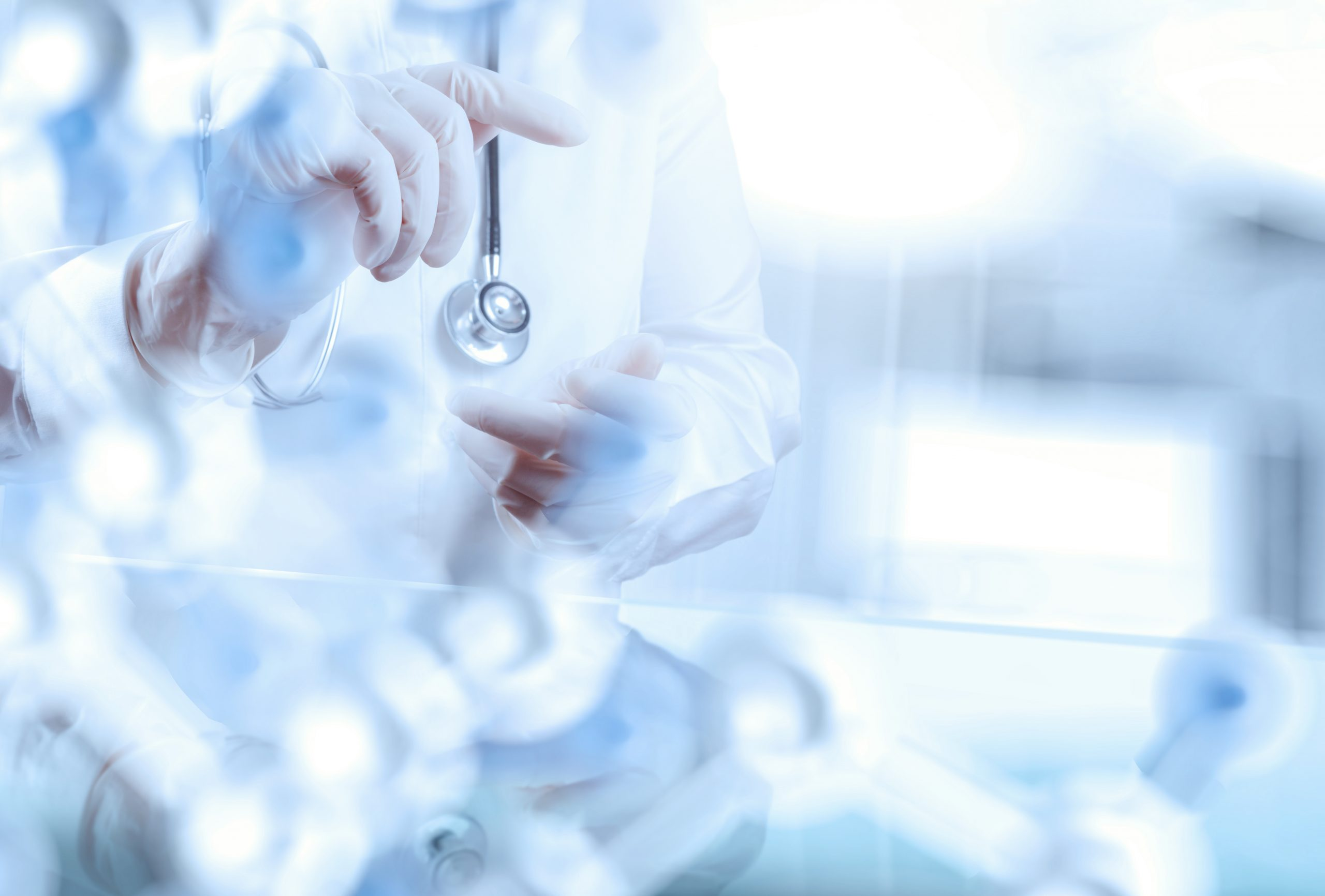 smart medical doctor working with operating room as concept